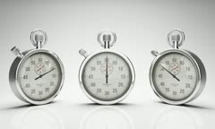 Stop Watch Time Lapse, Three Different Angles Stock Footage