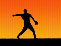 baseball background 2 - stock photo
