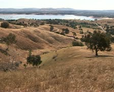 Dry landscape, Australia, Lake hume background Stock Footage