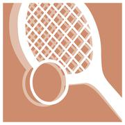 tennis pictogram - stock illustration