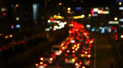 Traffic Lights, Out of Focus Stock Footage