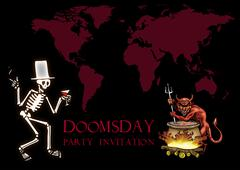 Doomsday party invitation Stock Illustration