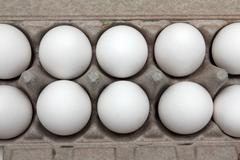 eggs in pack - stock photo