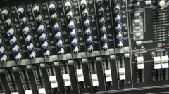 Spinning in to audio mixer board Stock Footage