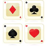 Playing card icons Stock Illustration