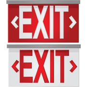 exit signs - stock illustration