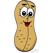 cartoon peanut - stock illustration