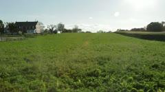 Sun Shining on Farmland Stock Footage
