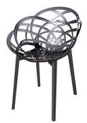 contemporary plastic chair - stock photo