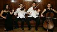 String quartet Stock Footage