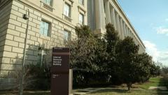IRS tax internal revenue service building tilt down - stock footage
