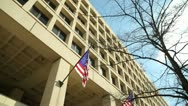Stock Video Footage of FBI headquarter building tilt down Washington DC