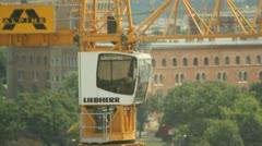 Tower Crane rotating - stock footage