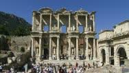 Ancient buildings in Ephesus Stock Footage