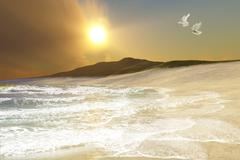 Ares seascape Stock Illustration