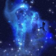 Blue eagle nebula Stock Illustration