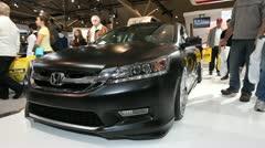 Black Honda accord sedan - stock footage