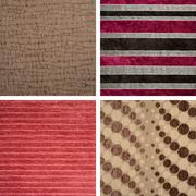 Set from backgrounds of textile texture Stock Photos