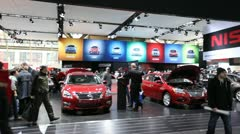 Nissan car show booth Stock Footage