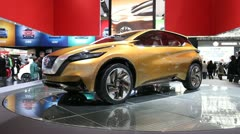 Nissan Resonance Concept Crossover SUV Stock Footage