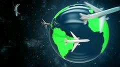 Airplanes around the world. - stock footage