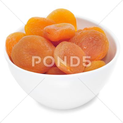 Stock photo of dried apricots