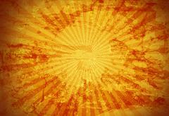 gold rays grunge background - stock illustration
