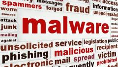 Malicious malware warning message Stock Footage
