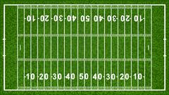 american football field - stock illustration