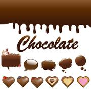 Stock Illustration of assortment chocolates