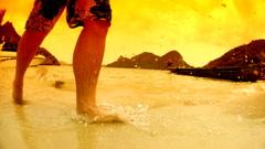 Beach resort - stock footage