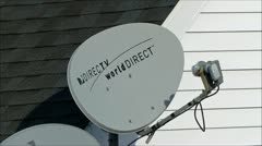 DirecTV Dish satellite loop - stock footage