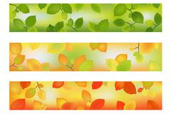 Three season banners or backgrounds Stock Illustration
