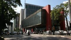 Masp - Museu de Arte de São Paulo Stock Footage