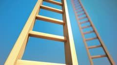 Endless Ladder. - stock footage
