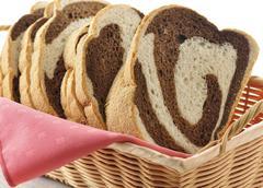 Stock Photo of rye swirl bread