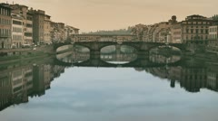 Florence - Bridge on Arno river 02 Stock Footage