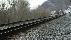Train track (11 of 14) Stock Footage