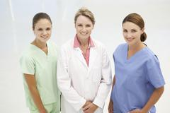 Group of professional medical women - stock photo