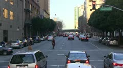 Traffic and  congestion, crosswalk Stock Footage