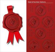 Wax Seal - Warranty & Safety Seal - stock illustration