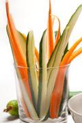fresh pinzimonio snack appetizer - stock photo