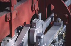 technology detail iron locomotive steamer steel - stock photo