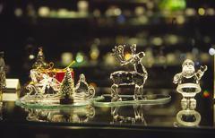 Christmas art decoration crystal exhibition rock Stock Photos