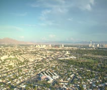 Aerial shot of Las Vegas sprawl daytime Stock Footage