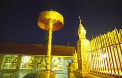 Buddhism gold golden night exposure temple metal Stock Photos