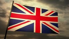 Flag England 05 Stock Footage