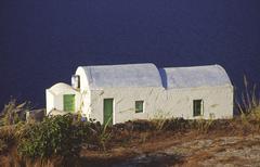 water house coast idyll mood romantic sea white - stock photo