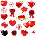 Stock Illustration of collection love elements