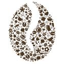 Coffee grain Stock Illustration